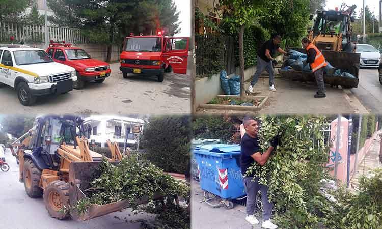 Προληπτικά μέτρα και επιφυλακή στην Πολιτική Προστασία του Δήμου Βριλησσίων