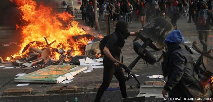 Χιλή: Νέες ταραχές στο Σαντιάγο – Στους 22 οι νεκροί
