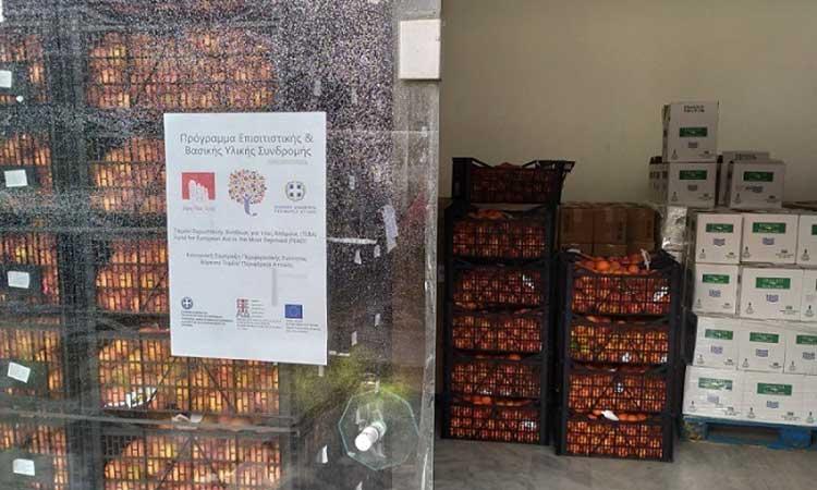 Δύο διανομές προϊόντων στη Βόρεια Αθήνα μέσω του προγράμματος ΤΕΒΑ