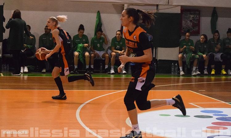 Ήττα του ΚΑΟ Μελισσίων από τον ΠΑΟΚ για την 9η αγωνιστική της Α1 μπάσκετ Γυναικών