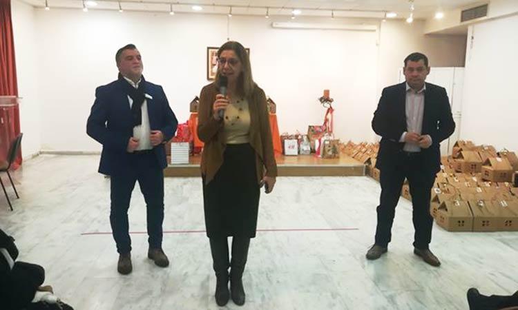 Στην εκδήλωση για τους ωφελούμενους του Κοινωνικού Παντοπωλείου Λυκόβρυσης – Πεύκης ο δήμαρχος