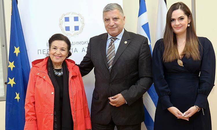 Συνάντηση περιφερειάρχη Αττικής με τη διευθύντρια της Εθνικής Πινακοθήκης, Μ. Λαμπράκη-Πλάκα