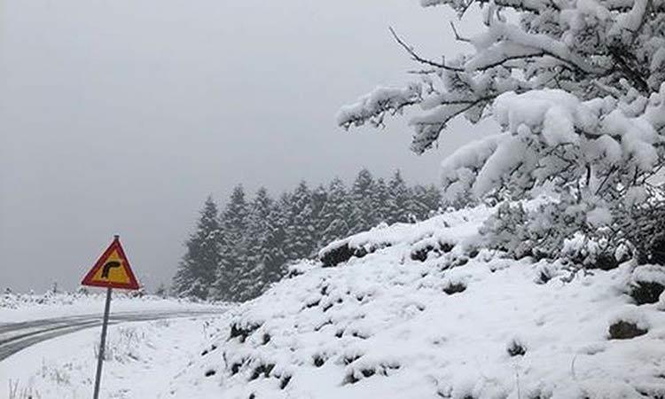 Έπεσαν τα πρώτα χιόνια σε Θεσσαλονίκη, Χαλκιδική