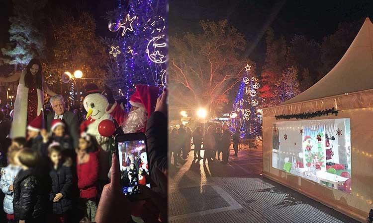 Φωταγωγήθηκε το χριστουγεννιάτικο δένδρο του Δήμου Αγίας Παρασκευής