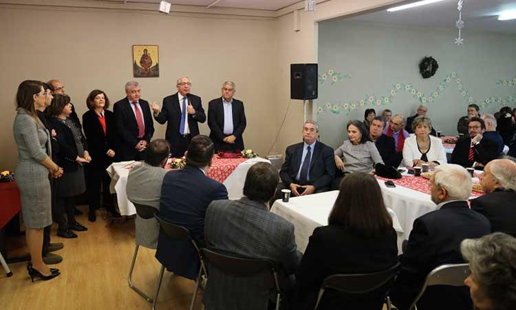 Στην κοπή πρωτοχρονιάτικης πίτας του Συλλόγου Ψαλιδίου Αμαρουσίου ο δήμαρχος Θ. Αμπατζόγλου