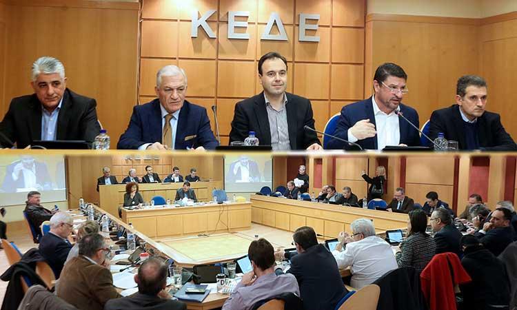 Ο Ν. Χαρδαλιάς ενημέρωσε την ΚΕΔΕ για το ν/σ περί Πολιτικής Προστασίας – Τι του ζήτησαν οι δήμαρχοι
