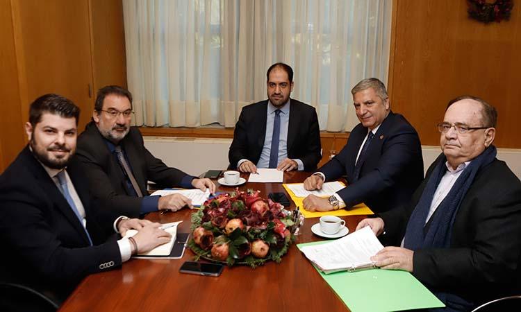 Συνάντηση περιφερειάρχη Αττικής με τον υφυπουργό Μεταφορών και Υποδομών