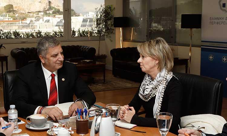 Επίσκεψη της πρέσβειρας της Σουηδίας στον περιφερειάρχη Αττικής