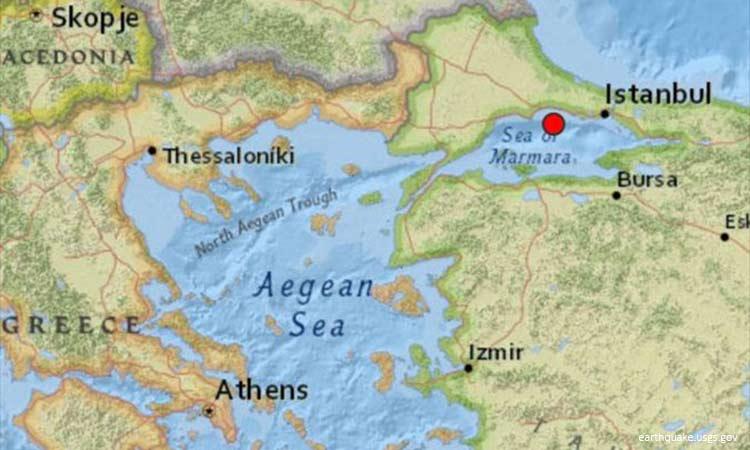 Σεισμός ταρακούνησε στην Κωνσταντινούπολη