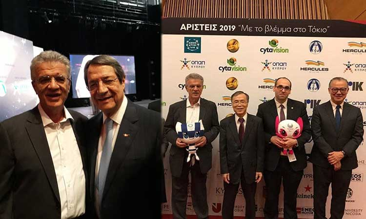 Ο Γ. Θεοδωρακόπουλος στη γιορτή των αρίστων του κυπριακού αθλητισμού