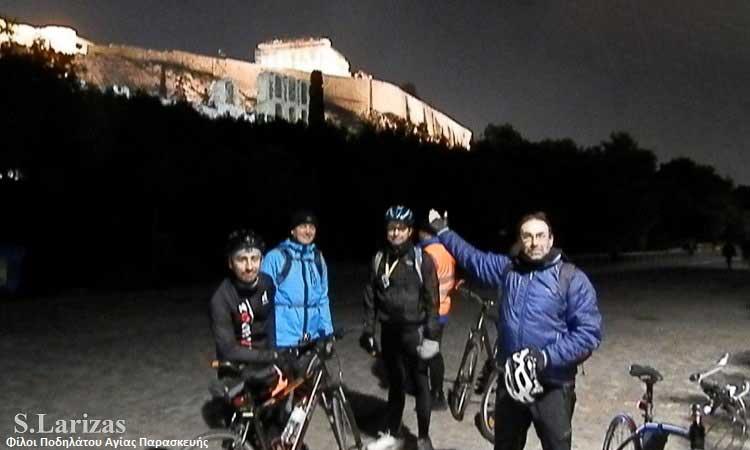 Νυχτοπερπατούν… οι Φίλοι Ποδηλάτου Αγίας Παρασκευής