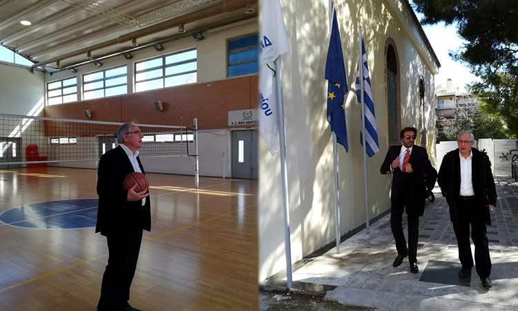 Επίσκεψη δημάρχου Αμαρουσίου σε Δημοτική Ολυμπιακή Πινακοθήκη και Κλειστό της  Κοκκινιάς