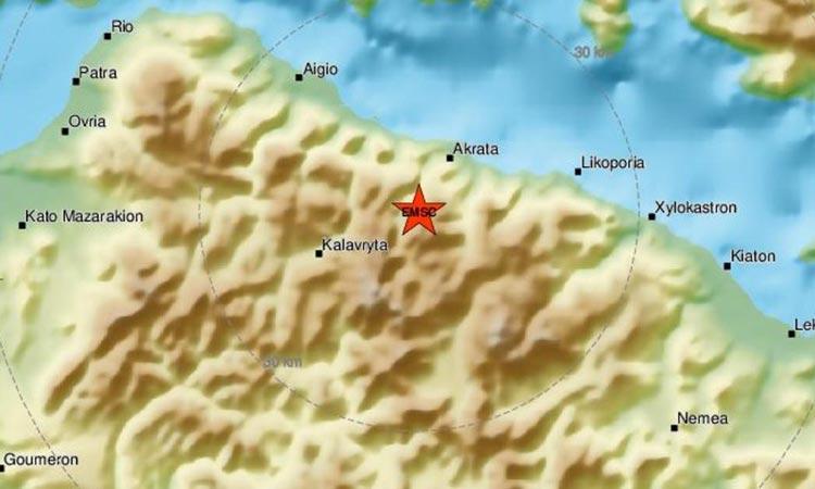 Αλλεπάλληλες σεισμικές δονήσεις στα Καλάβρυτα