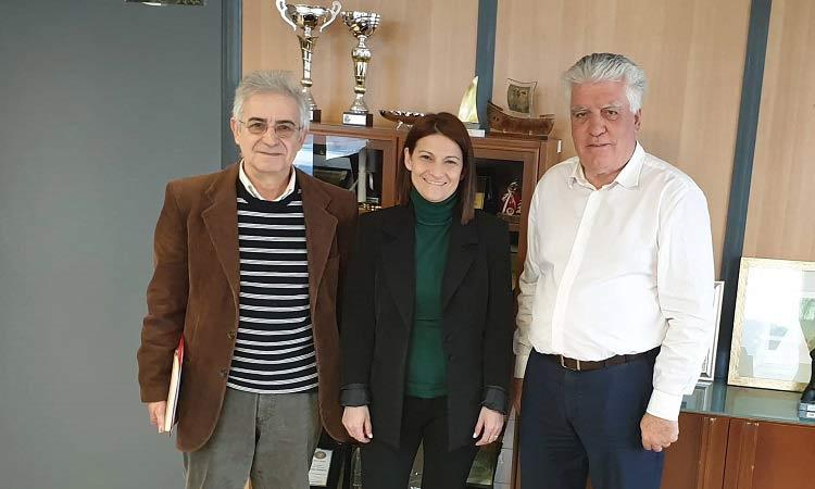 Για τις κοινωνικές δομές του Δήμου Αγ. Παρασκευής ενημέρωσε τη Μ. Νάτσιου ο Β. Ζορμπάς