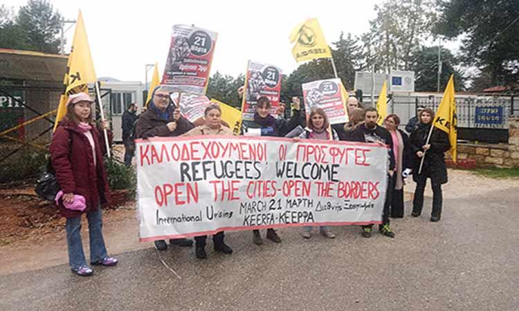 Περιπολικά «υποδέχθηκαν» το κλιμάκιο της ΚΕΕΡΦΑ Βορείων Προαστίων στο κέντρο μεταναστών στη Μαλακάσα