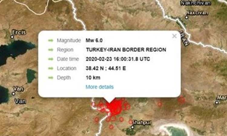 Τουρκία: Και δεύτερος ισχυρός σεισμός 5,8 R στα σύνορα με το Ιράν