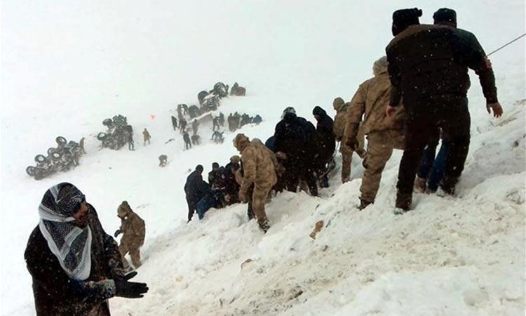 Τουρκία: Τουλάχιστον 23 νεκροί από νέα χιονοστιβάδα