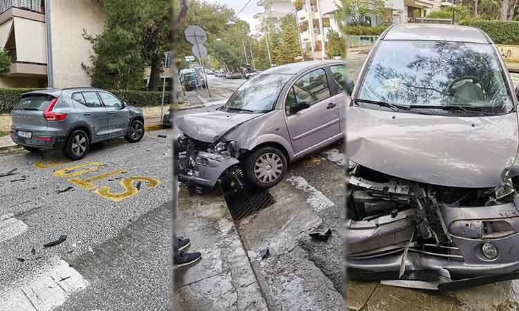 Σφοδρή σύγκρουση οχημάτων στη διασταύρωση Θερμοπυλών και 28ης Οκτωβρίου, στα Βριλήσσια
