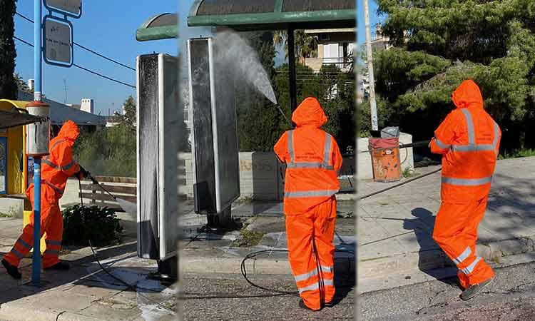 Συνεχίζονται οι εκτεταμένες προληπτικές απολυμάνσεις σε Παπάγο και Χολαργό