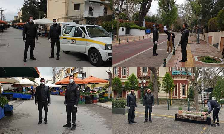 Στους δρόμους οι δημοτικοί αστυνομικοί του Δήμου Κηφισιάς για την απαγόρευση κυκλοφορίας