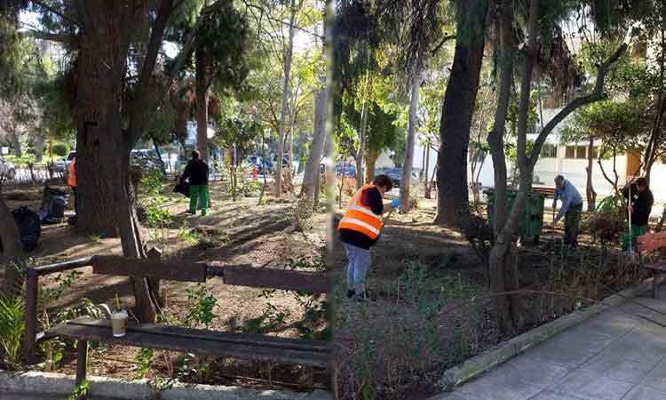 Εργασίες καθαριότητας κοινόχρηστων χώρων σε Εργατικές Κατοικίες και Πολύδροσο Αμαρουσίου