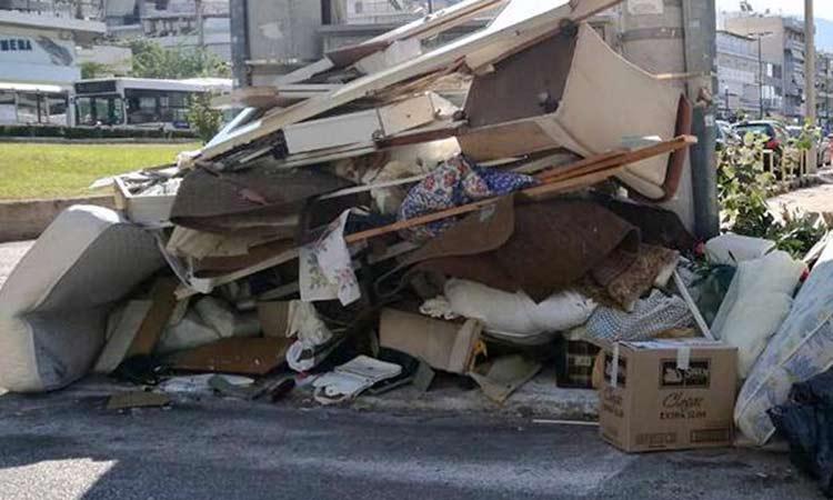 Αυστηρή σύσταση Δήμου Αμαρουσίου για μη απόρριψη μπαζών, κηπαίων και ογκωδών