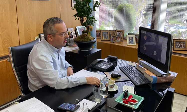 Τηλεδιάσκεψη Ηλ. Αποστολόπουλου με επικεφαλής δημοτικών παρατάξεων Παπάγου – Χολαργού