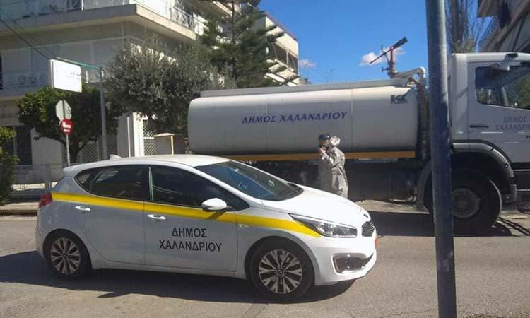 Πολύωρη αυτοψία δημάρχου Χαλανδρίου στις διαδρομές καθαρισμού του Δήμου