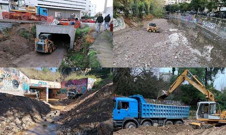 Έκτακτες επιθεωρήσεις και καθαρισμοί ρεμάτων στην Αττική για την αποφυγή πλημμυρικών φαινομένων