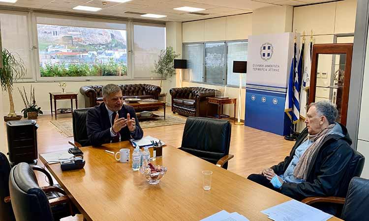 Συνάντηση περιφερειάρχη Αττικής με τον πρόεδρο της Πανελλήνιας Ένωσης Μονάδων Φροντίδας Ηλικιωμένων