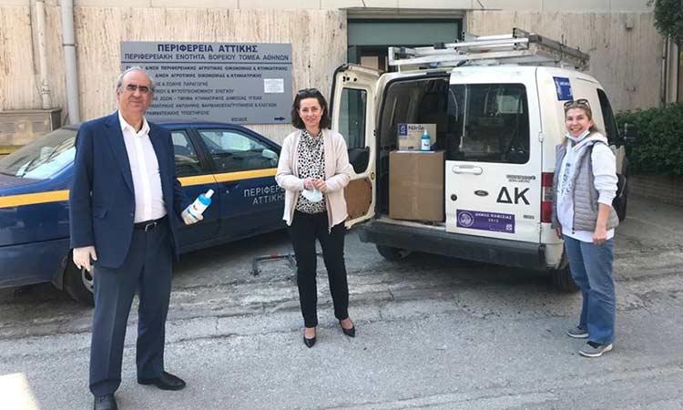 Υγειονομικό υλικό για δεύτερη φορά από την Περιφέρεια Αττικής στον Δήμο Κηφισιάς