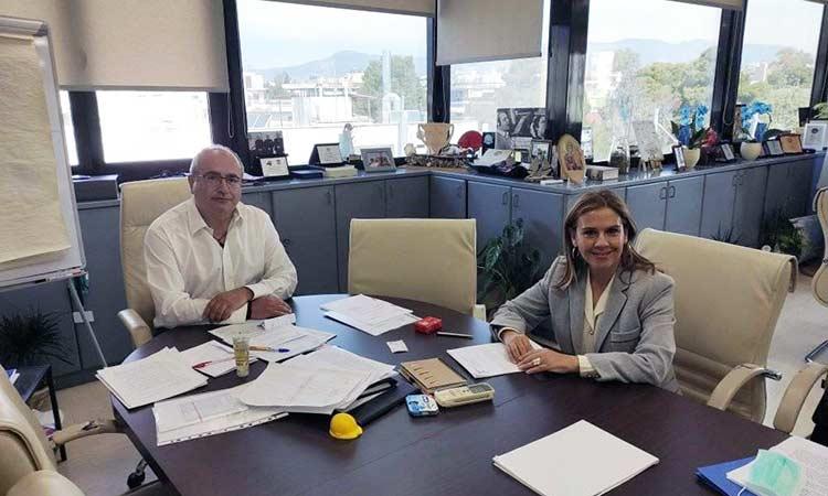 Ν. Μπάμπαλος και Ζ. Ράπτη συζήτησαν για τα μέτρα στήριξης των Δήμων στη μετά… κορωνοϊό εποχή