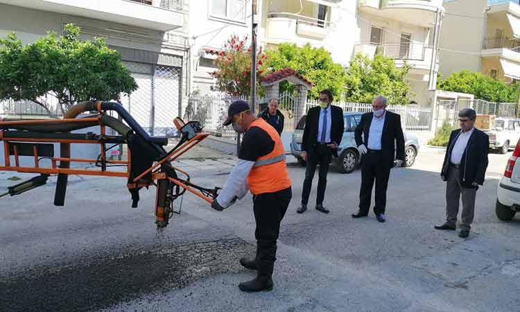 Αυτοψίες δημάρχου Αμαρουσίου σε υπό εξέλιξη έργα στην πόλη