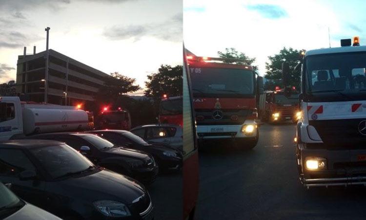 Φωτιά σε χώρο εταιρείας στην Κηφισιά – Επέμβαση ισχυρών πυροσβεστικών δυνάμεων
