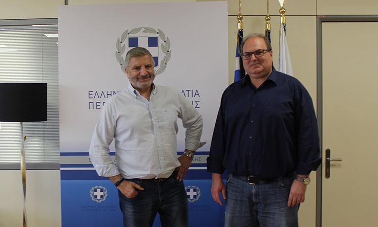 Συνάντηση του περιφερειάρχη Αττικής Γ. Πατούλη με τον δήμαρχο Χαλανδρίου Σ. Ρούσσο