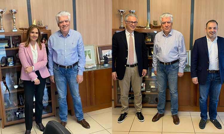 Επισκέψεις Ζ. Ράπτη και Θ. Ρουσόπουλου στο δημαρχείο Αγίας Παρασκευής