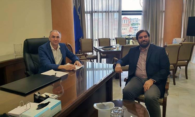 Για έργα στην πόλη της Μεταμόρφωσης συζήτησαν δήμαρχος και κλιμάκιο της ΜΟΔ Α.Ε.