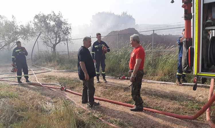 Άμεση  επέμβαση ΣΠΑΠ στην πυρκαγιά που ξέσπασε στη Δ.Κ. Άνοιξης του Δήμου Διονύσου