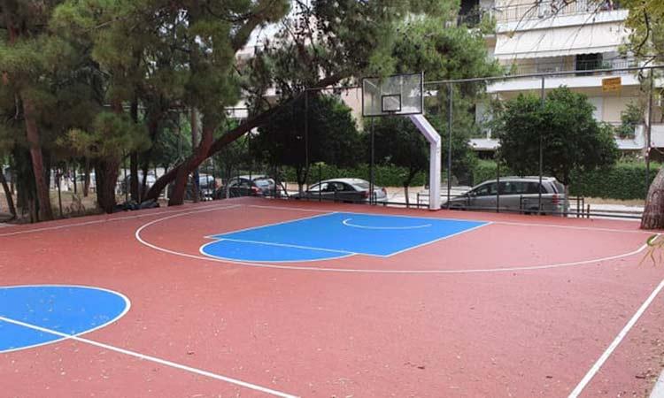 Προχωρά το έργο συμμετοχικού προϋπολογισμού στον Συνοικισμό Χαλανδρίου – Ανακατασκευάστηκε το γήπεδο μπάσκετ