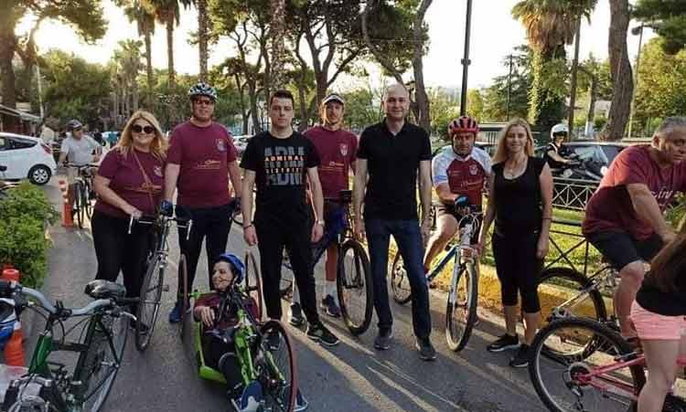 Θερμά ανταποκρίθηκαν οι κάτοικοι της Μεταμόρφωσης στην ποδηλατάδα που διοργάνωσε ο Δήμος