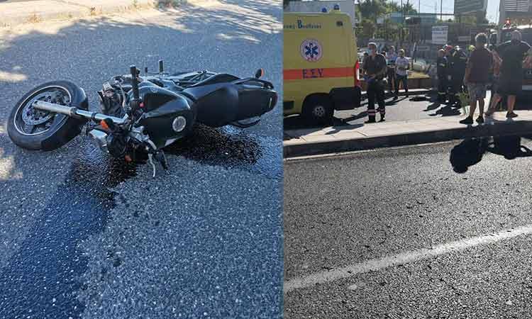 Τροχαίο με τραυματία δικυκλιστή στην οδό Αναπαύσεως, στο Χαλάνδρι