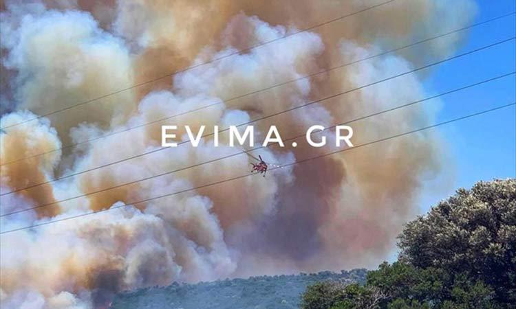 Εύβοια: Οριοθετήθηκε η πυρκαγιά στην Κάρυστο – Υπό μερικό έλεγχο στην Αχαΐα