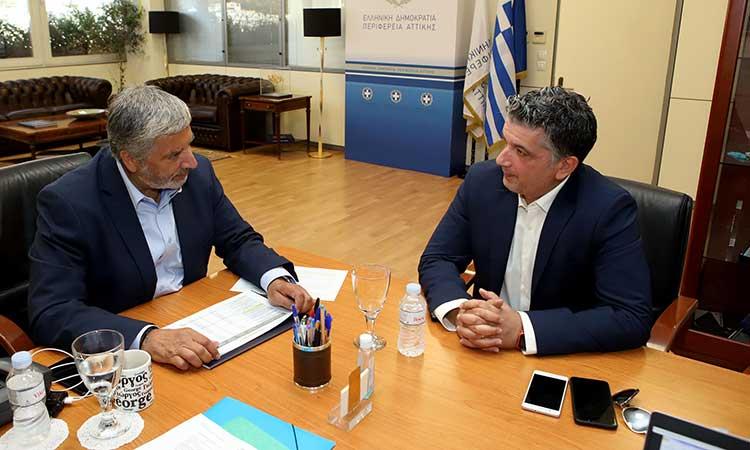 Την ανάγκη κατασκευής πεζογέφυρας στην Αναπαύσεως συζήτησαν μεταξύ άλλων περιφερειάρχης και δήμαρχος Βριλησσίων
