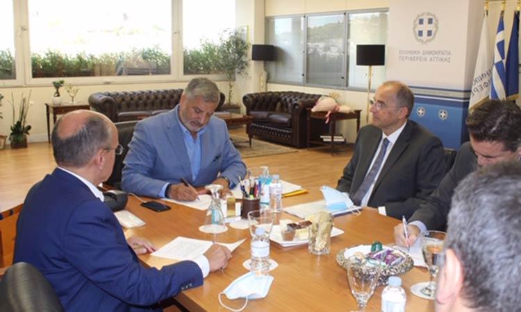 Σύμφωνο Συναντίληψης και Συνεργασίας μεταξύ Περιφέρειας Αττικής, ΕΥΔΑΠ και Δήμου Μαραθώνα για επαναχρησιμοποίηση των λυμάτων της Αν. Αττικής