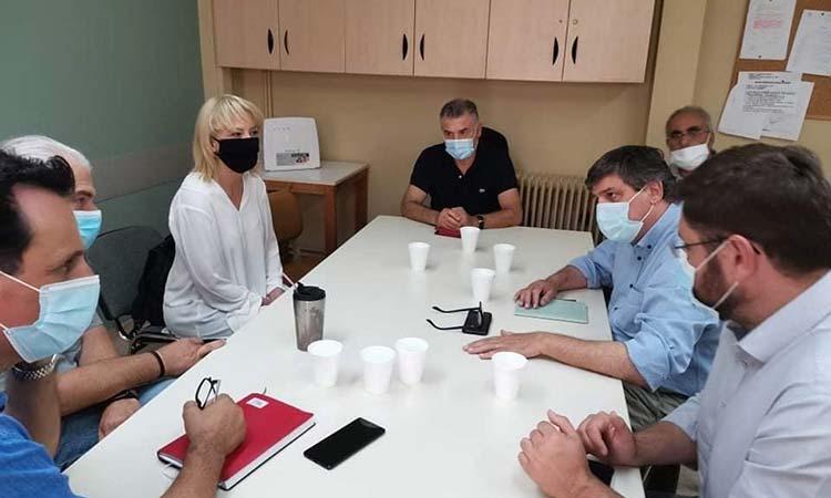 Επίσκεψη Ξανθού, Δούρου, Ζαχαριάδη στο «Σισμανόγλειο» Νοσοκομείο