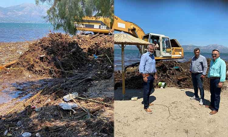 Ενισχύονται τα συνεργεία της Περιφέρειας Αττικής που συνδράμουν στον καθαρισμό του παραλιακού μετώπου στον Δήμο Ωρωπού