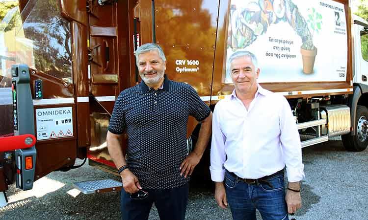 Εξοπλισμό συλλογής βιοαποβλήτων και κάδων ανακύκλωσης παρέδωσε ο Γ. Πατούλης στον Δήμο Παιανίας