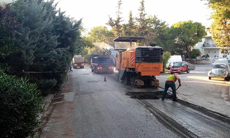 Συνεχίζει τις ασφαλτοστρώσεις ο Δήμος Φιλοθέης-Ψυχικού