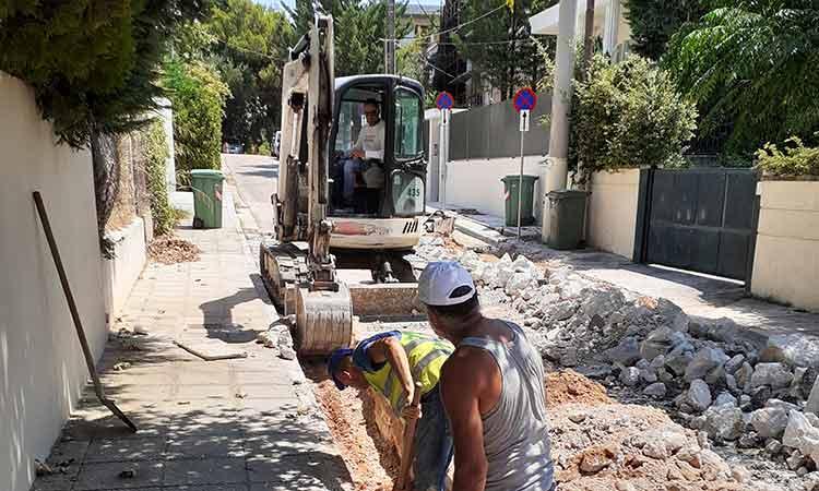 Συνεχίζονται τα έργα αντιπλημμυρικής προστασίας & ανύψωσης φρεατίων στον Δήμο Κηφισιάς