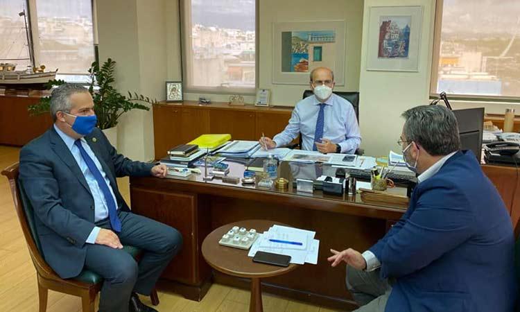 Συνάντηση Κ. Χατζηδάκη και Ηλ. Αποστολόπουλου για θέματα του Δήμου Παπάγου-Χολαργού